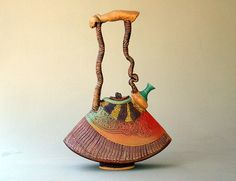 Wow! Just fell in love...  Sculptural Teapot by PotterybyHelene on Etsy, $825.00