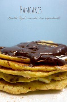 pancakes furbissimi,con due ingredienti