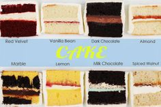 Yummy! There are so many wedding cake flavors to choose from. Let our in-house cake designer help you from the inside out!