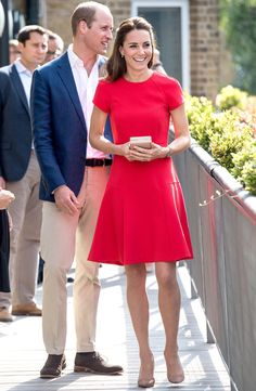 A RED FIT AND FLARE DRESS