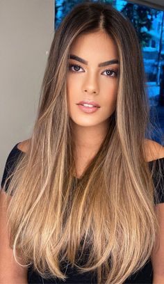 63 Charming hair colour ideas & hairstyles : Dark Chocolate to honey blonde