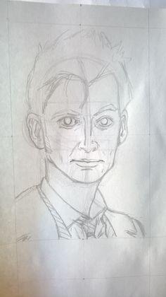 Caricatura David Tennant, alias Doctor Who, matita - Drawing of David Tennant, alias Doctor Who, pencil Work in progress