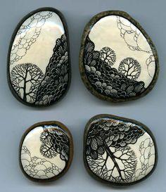 185 by Atanata on DeviantArt Pebble Painting, Dot Painting, Pebble Art, Stone Painting, Stone Crafts, Rock Crafts, Pebble Stone, Stone Art, Art Rupestre