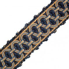 """Decorative trim - Samuel and Sons Passementerie 1.5"""" MARLY GALON WITH SCROLL Drapes And Blinds, Drapes Curtains, Samuel And Sons, Curtain Material, Passementerie, Decorative Trim, My Furniture, Weaving, Textiles"""
