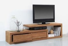 44 Modern TV Stand Designs for Ultimate Home Entertainment Tags: tv stand ideas for small living room, tv stand ideas for bedroom, antique tv stand ideas, awesome tv stand ideas, tv stand ideas creative Bedroom Tv Stand, Tv In Bedroom, Bedroom Small, Diy Bedroom, Bedroom Corner, Small Rooms, Small Spaces, Living Room Tv, Home And Living