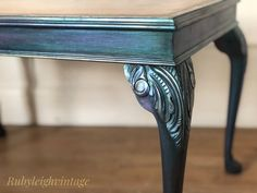 Magical waxes give this table a whimsical mermaid look. Paint Furniture, Entryway Tables, Whimsical, Wax, Mermaid, Hand Painted, Boho, Unique, Painting