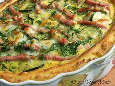 torta salata con semolino prosciutto e zucchine