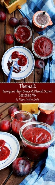 Tkemali is a Georgian plum sauce, perfect for vegetables, grilled meat, fish, seafood and salad dressings. It's pungent, sweet-sour, aromatic and flavorful.