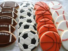 Hand+Decorated+Sports+ball+cookies+One+dozen+by+3CSC+on+Etsy,+$15.99