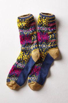 Kapital Fairisle Socks - anthropologie.com