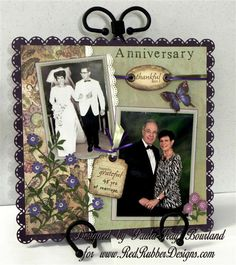 3 This Golden Anniversary Layout I That They Are Holding Their Wedding Photo And Then Is Blown Up On The Heart Becom