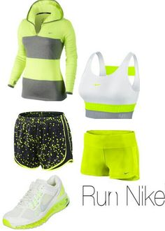 Neon Nike gym outfit