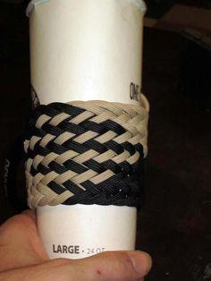 Handmade Paracord 550 Cord Coffee Sleeve - Paracordist Creations LLC