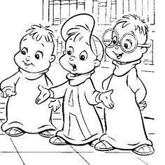 kleurplaat Alvin en de Chipmunks - Alvin en de Chipmunks
