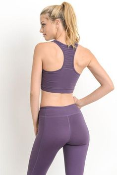 This burnout mesh sports bra features a rounded neckline, racerback design, and elasticized trim. Product Highlights: Removable Bra Pads, Moisture Wicking, Four-way Stretch. Womens Workout Outfits, Sporty Outfits, Cute Outfits, Gym Outfits, Sexy Leggings Outfit, Chest Workout Women, Corps Parfait, Sexy Jeans, Workout Wear