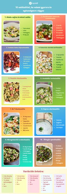 10_salataontet_ha_valami_gyorsra_es_egeszsegesre_vagysz Salad Recipes, Diet Recipes, Vegetarian Recipes, Healthy Recipes, Food To Make, Healthy Lifestyle, Healthy Living, Clean Eating, Good Food