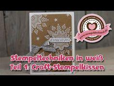 Tutorial: Weiß stempeln Teil 1, Verwendung von Craft-Tinte von Stampin' Up! - YouTube