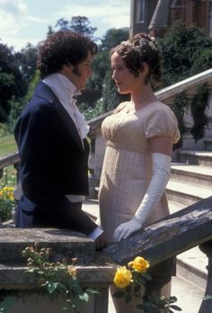 Jennifer Ehle and Colin Firth as Elizabeth Bennet and Fitzwilliam Darcy Pride and Prejudice 1995 Winchester, Darcy Pride And Prejudice, Jennifer Ehle, Jane Austen Movies, Divas, Chef D Oeuvre, Period Dramas, I Movie, Star Wars