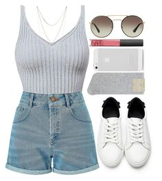 """""""6/21/16"""" by nia-lewis on Polyvore featuring Miss Selfridge, Falke, Lucky Brand, NARS Cosmetics and Prada"""