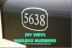 DIY Vinyl Mailbox Nu