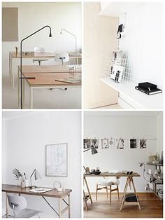Work Space Inspiration in Light Natural Hues. home office/ workspace | ems designblogg