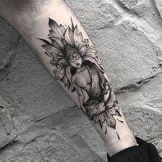 Buddha Tattoos Design-Ideen - Tattoo Trends and Lifestyle Buddha Tattoo Design, Buddha Tattoos, Buddhist Symbol Tattoos, Zen Tattoo, Tattoo Henna, Symbolic Tattoos, Lotus Tattoo, Tattoo Ink, Ganesha Tattoo