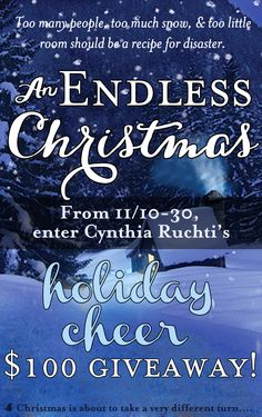 Enter here  http://prmo.me/Ry5SwI There's no getting out of Christmas now, despite Katie rejecting Micah's marriage proposal. Cozy up this holiday season with Cynthia Ruchti's new novella, An Endless Christmas. Cynthia is celebrating the release of her new novella with a $100 Target gift card giveaway and blog tour. Click for details!