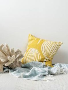 CORINELLA CUSHIONS ONLINE YELLOW 50 X 50CM CUSHION