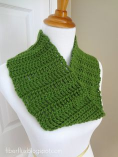 Class is in session!  Learn to crochet or brush up on your crochet skills by working up this pretty lighter weight cowl. Each panel i...