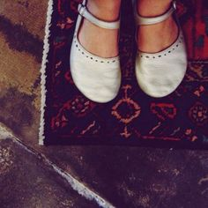 Tryphena's favorite shoes: white Soft Star Metros! #shoes #women #maryjanes #softstarshoes #handmade #white