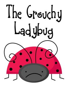The Grouchy Ladybug Unit and Lapbook Printables