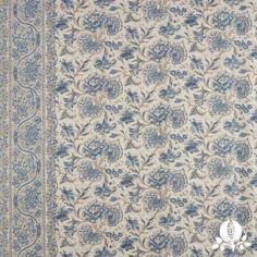 Maharani in French Blue | @Suzanne, with a Z. Tucker Home #fabric #linen #floral #blue