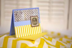 yellow and blue homemade father's day card by cassandra7creates, $4.00