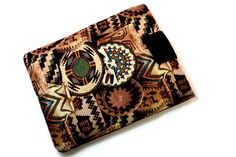 Hand Crafted Tablet Case from Aztec Fabric/  by MyTabletCasePlace