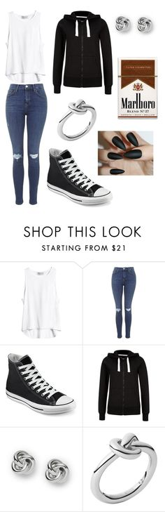 """""""Femme Ponyboy"""" by forever-young114 ❤ liked on Polyvore featuring Topshop, Converse, FOSSIL, Michael Kors, women's clothing, women, female, woman, misses and juniors"""