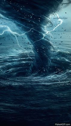 Cyclone sea is an animated gif that was created for free on MakeAGif.