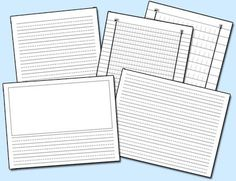 PDF files of various types of writing paper that would be great to use on ActivBoard or SMART Board.
