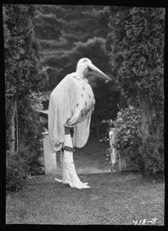 Scene from Sanctuary, A Bird Masque, by Percy MacKaye, in rehearsal for first performance at the Meriden Bird Club sanctuary dedication in New Hampshire. Photograph by Arnold Genthe, Sept. 1913. Arnold Genthe Collection, Prints and Photographs Division.