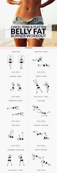 Flatten your abs and blast calories with these 10 moves! A belly fat burner workout to tone up your tummy, strengthen your core and get rid of love handles. Keep to this routine and get the flat, firm…MoreMore #fitnessworkouts