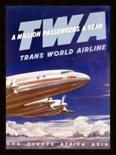 Vintage Aviation Posters U.S. Airlines Gallery 2
