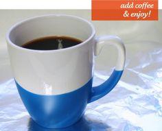 DIY dipped mugs
