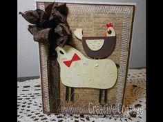 Country Life Cricut Cartridge Sheep Chicken Card