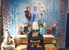 Frozen Birthday Party, Frozen Birthday Decorations, Disney Frozen Party, Frozen Theme Party, 6th Birthday Parties, 8th Birthday, Buffet Party, Elsa Frozen, Ladybug Party