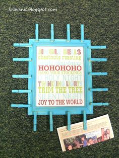 DIY Christmas Card Holder- In different colors however...