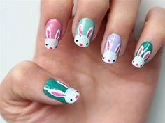 Bunnies! Eggs! 10 D-I-Y Easter nail art designs - TODAY.
