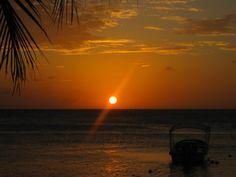 Sunset from Bananarama, West Bay, Roatan, Honduras