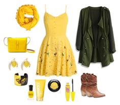 """""""Yellow 4"""" by kwatabay on Polyvore featuring Chicwish, Wet Seal, Bohemia, J.Crew, Matthew Campbell Laurenza, Clinique, Lancôme, Maybelline and Deborah Lippmann"""
