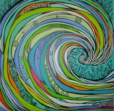 Posca Art, Surf Design, Wave Art, Mural Wall Art, Ocean Art, Art Journal Pages, Beach Art, Art Techniques, Doodle Art