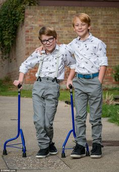 Marcus McCarthy, from Southend, was born with cerebral palsy and didn't have the strength ...
