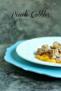 Peach Cobbler | cravingsofalunatic.com | Easy to make and wicked delicious!